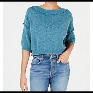 Free People Sweaters - NWT Free People Cropped Deep Pacific Sweater